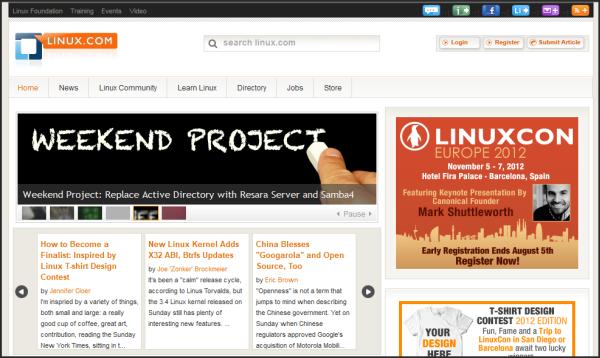 joomla-showcase-linux-com